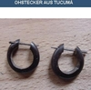 Earrings of Tucumã (dark brown)