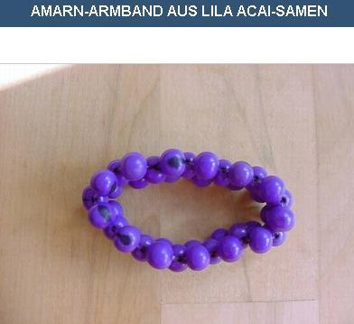 AMARN-bracelet purple açaí seeds