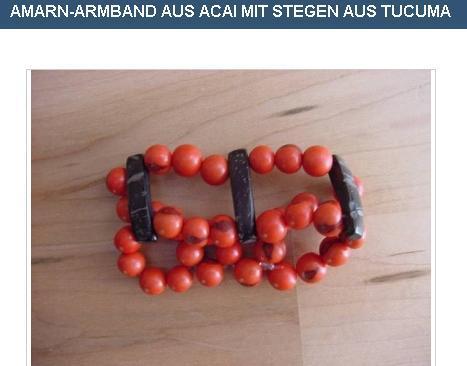 AMARN bracelet made ​​of Açaí with tube of Tucumã