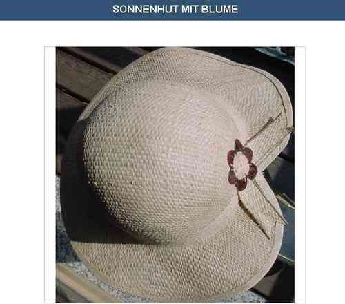 Sun hat with flower